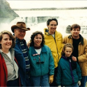 Stephen Ambrose and family at Great Falls