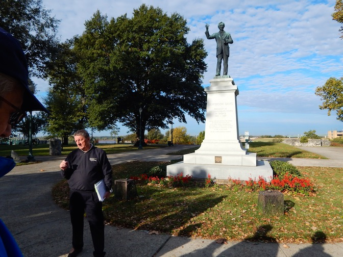 Mark Bielski at Civil war monument