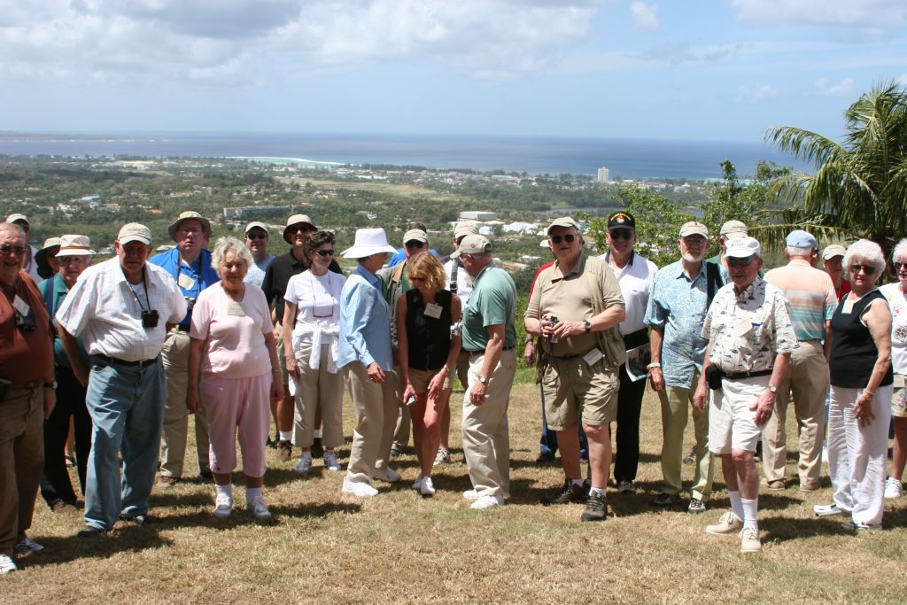 Iwo Jima Tour guests at overlook