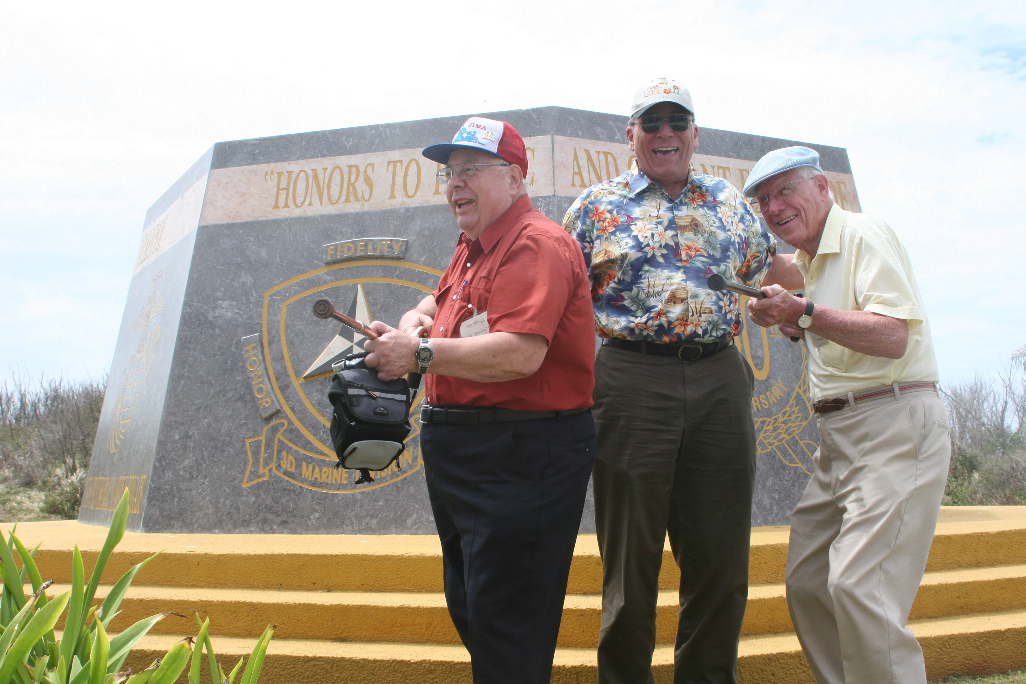 Ron Drez and veterans on the Iwo Jima tour having fun