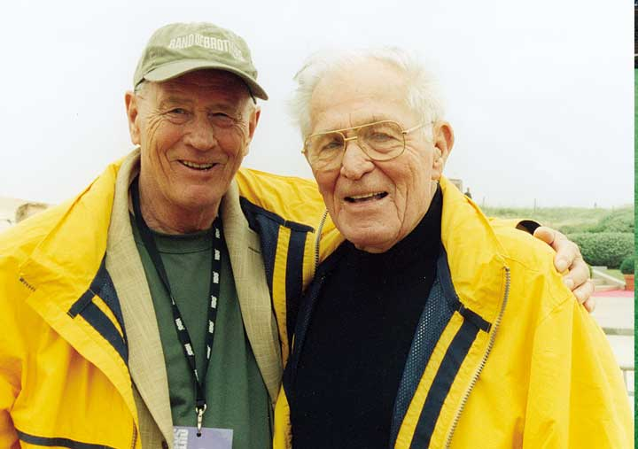 Stephen Ambrose and Major Dick Winter, Commander of Easy Company