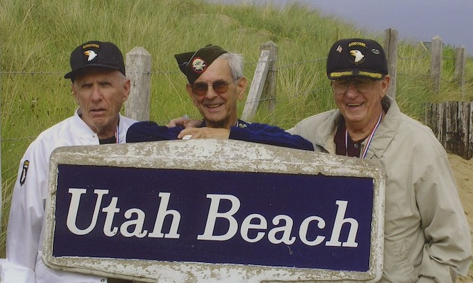 D-Day vets at Utah Beach