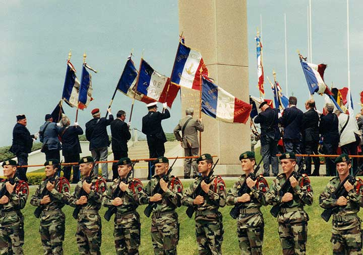 Formal ceremonies for premier of Band of Brothers HBO series