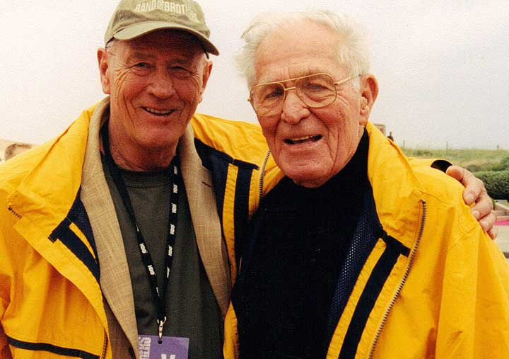 Stephen Ambrose and Major Dick Winters