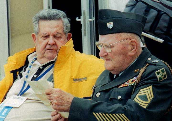 Two Band of Brothers veterans