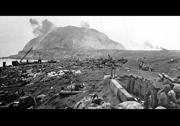 fighting at Mt. Suribachi Iwo Jima