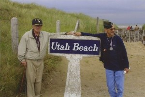 Veterans at Utah Beach on D-Day