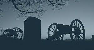 Civil War battlefield cannons
