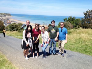 SELU Study Abroad Group at Arromanches
