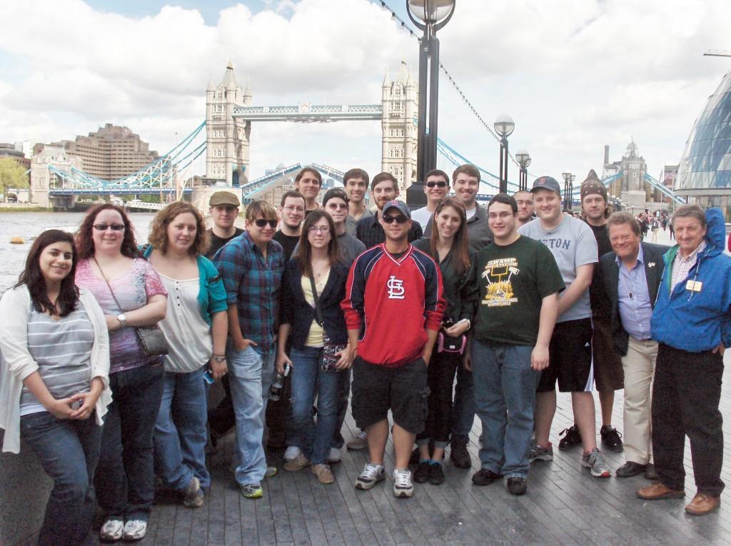 SELU Study Abroad Group by London Bridge
