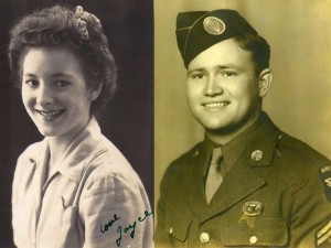 D-Day Veteran Norwood Thomas with Wartime Sweetheart