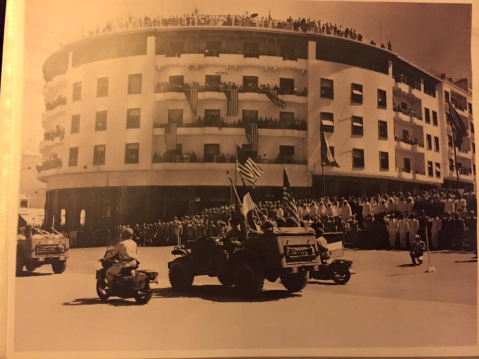 U.S. Army parade in Rabat during WWII
