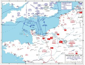 Map of D-Day Invasion