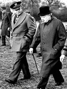 General Eisenhower and Winston Churchill