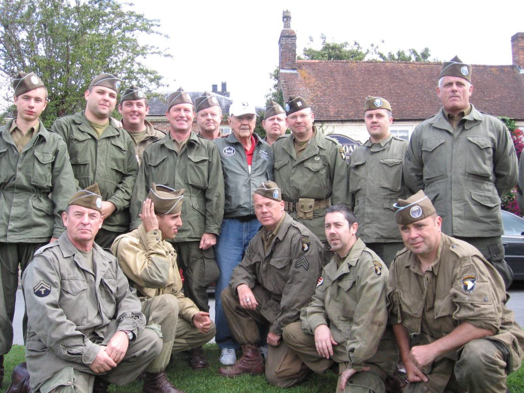 BoB Tour Ed Mauser with the Screaming Eagles Living History in Aldbourne, England