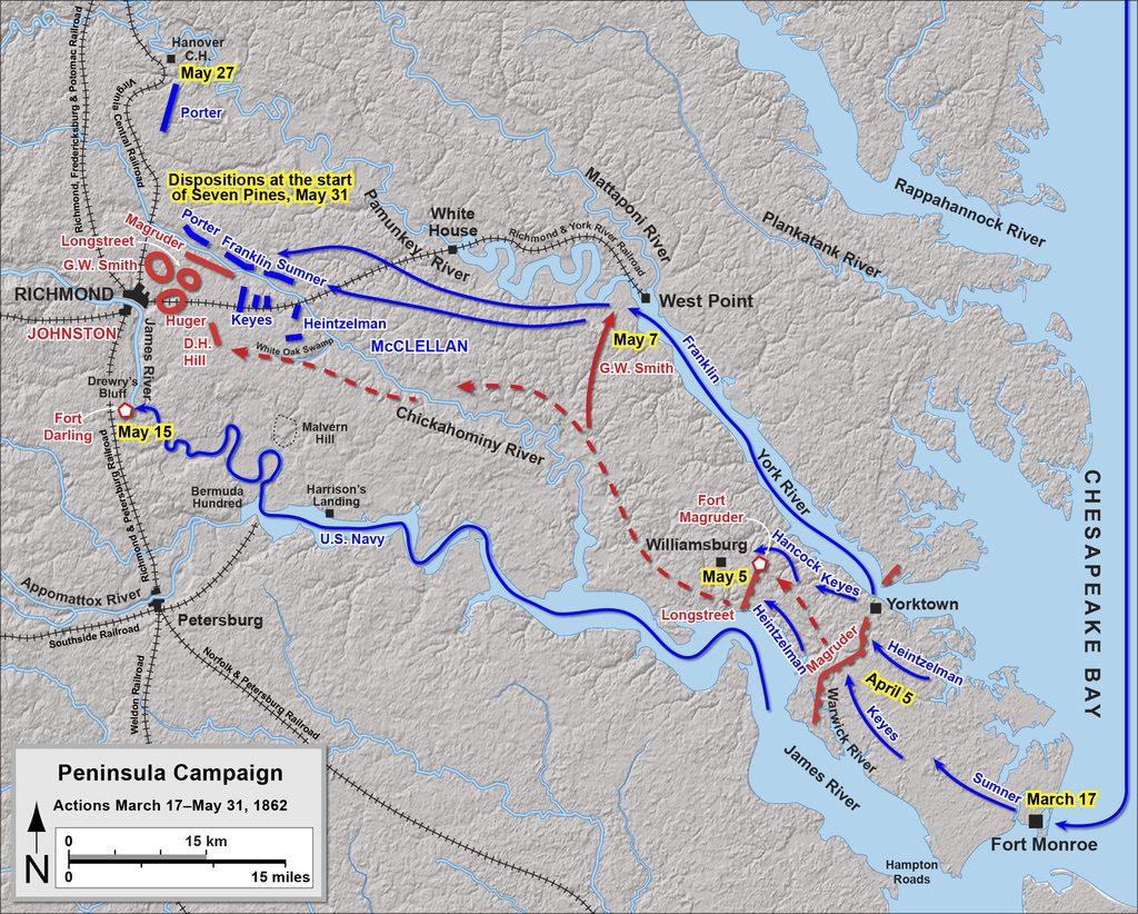 Peninsula Campaign Map