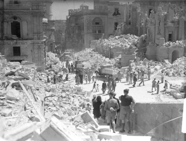 Bomb Damage in Malta WWII