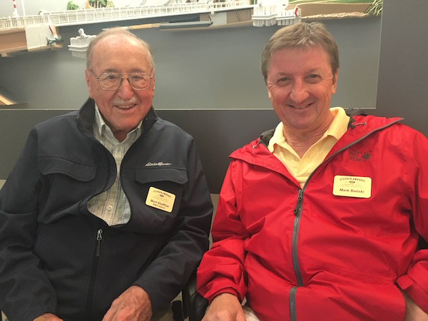 WWII veteran Mort Sheffloe and Mark Bielski