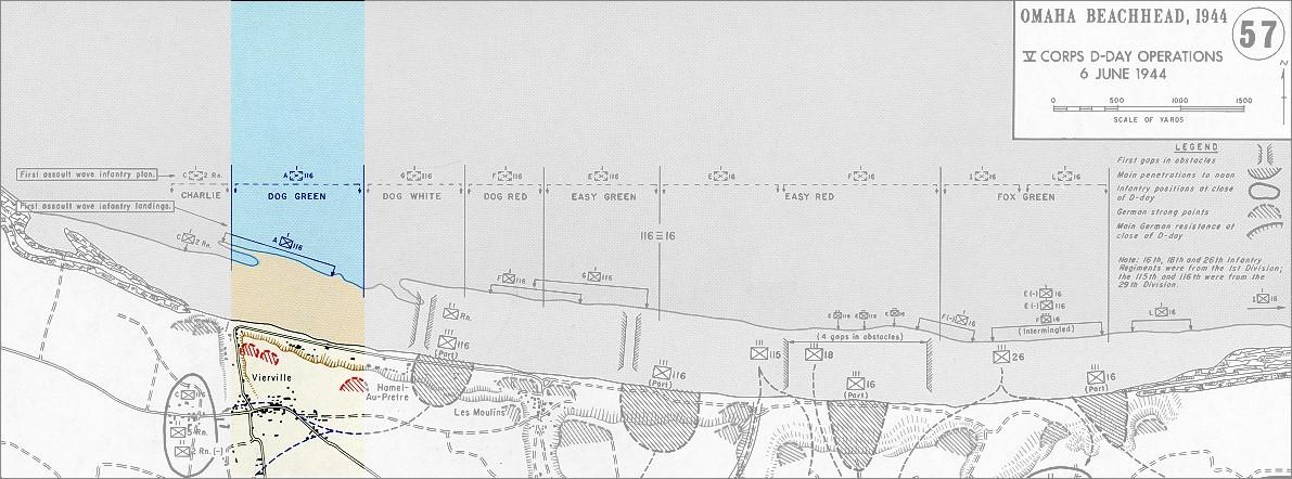 Omaha Beach Vierville Draw