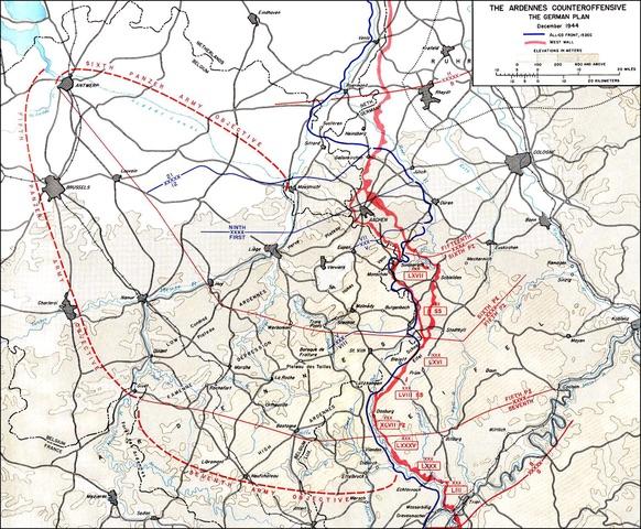German Counter Offensive Plan Belgium