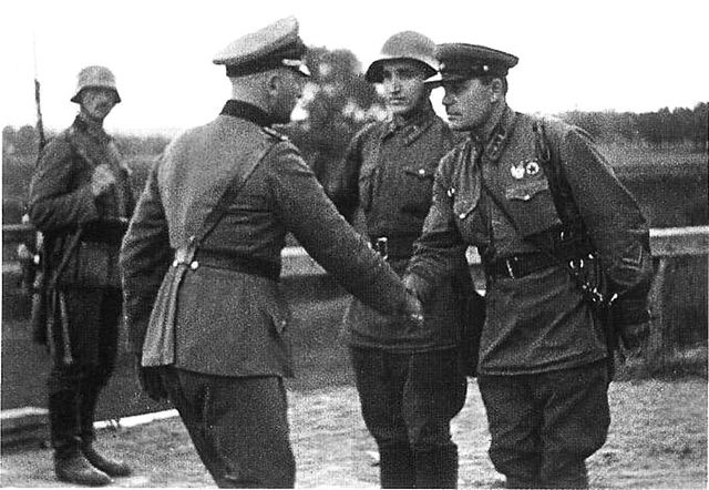 German and Soviet Officer After Poland Invasion