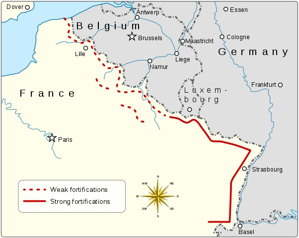 Map of the Maginot Line