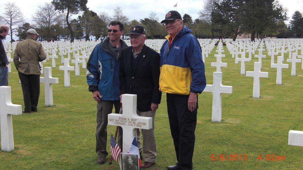 Herb Suerth Ron Drez Normandy Cemetery