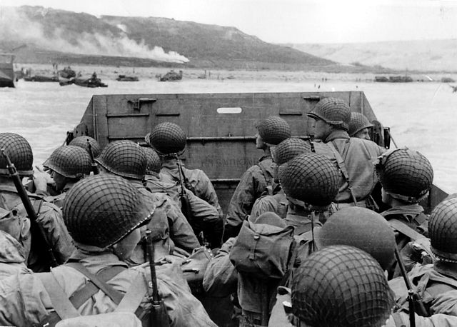 Approaching Omaha Beach during WWII