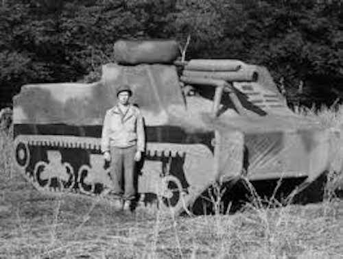 603rd soldier by inflatable tank destroyer