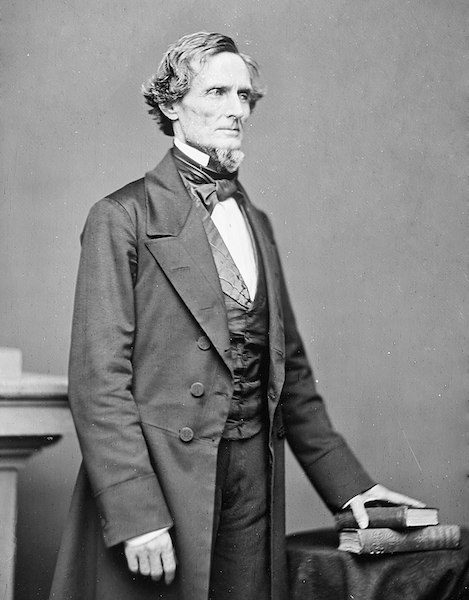 President of Confederacy Jefferson David
