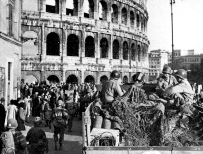 American soldiers in Rome during WWII