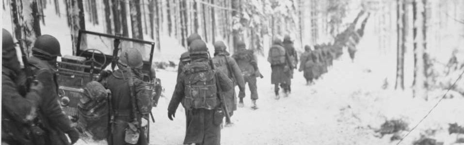 Battle of the Bulge soldiers in the forest