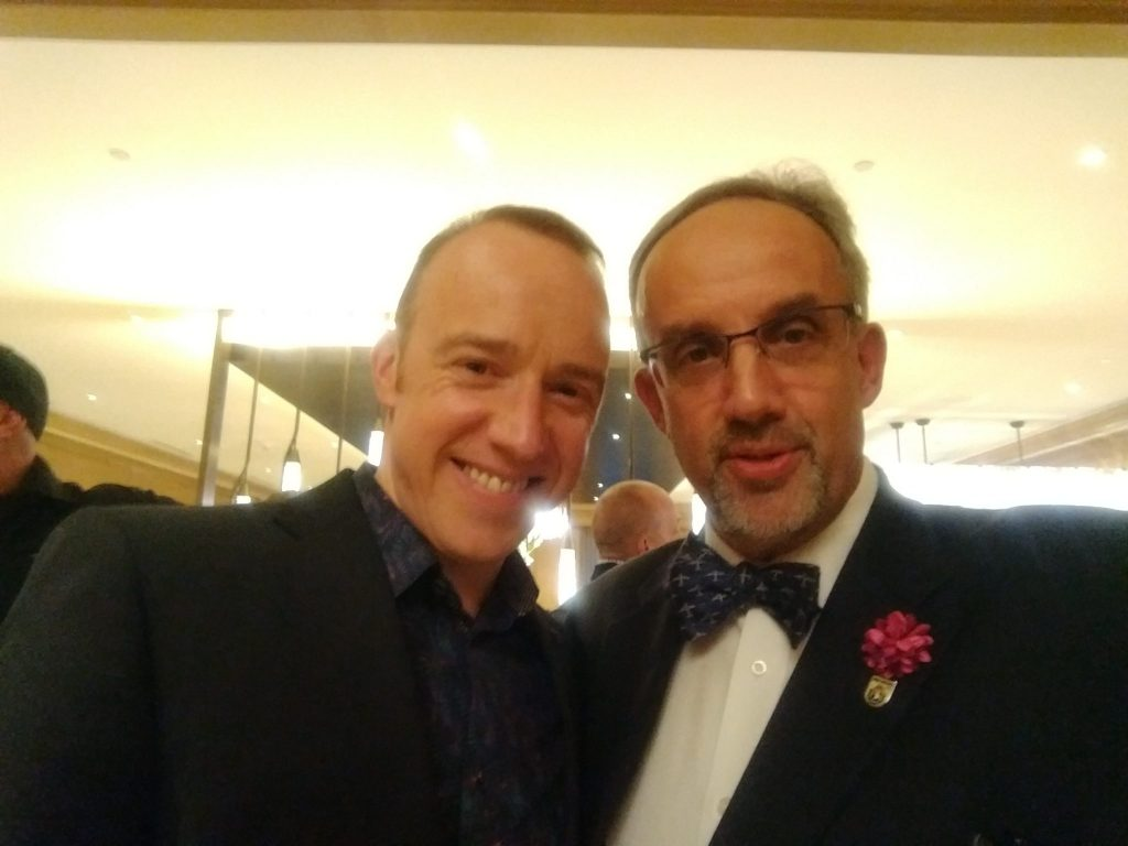 Actor Robin Laing and George Luz