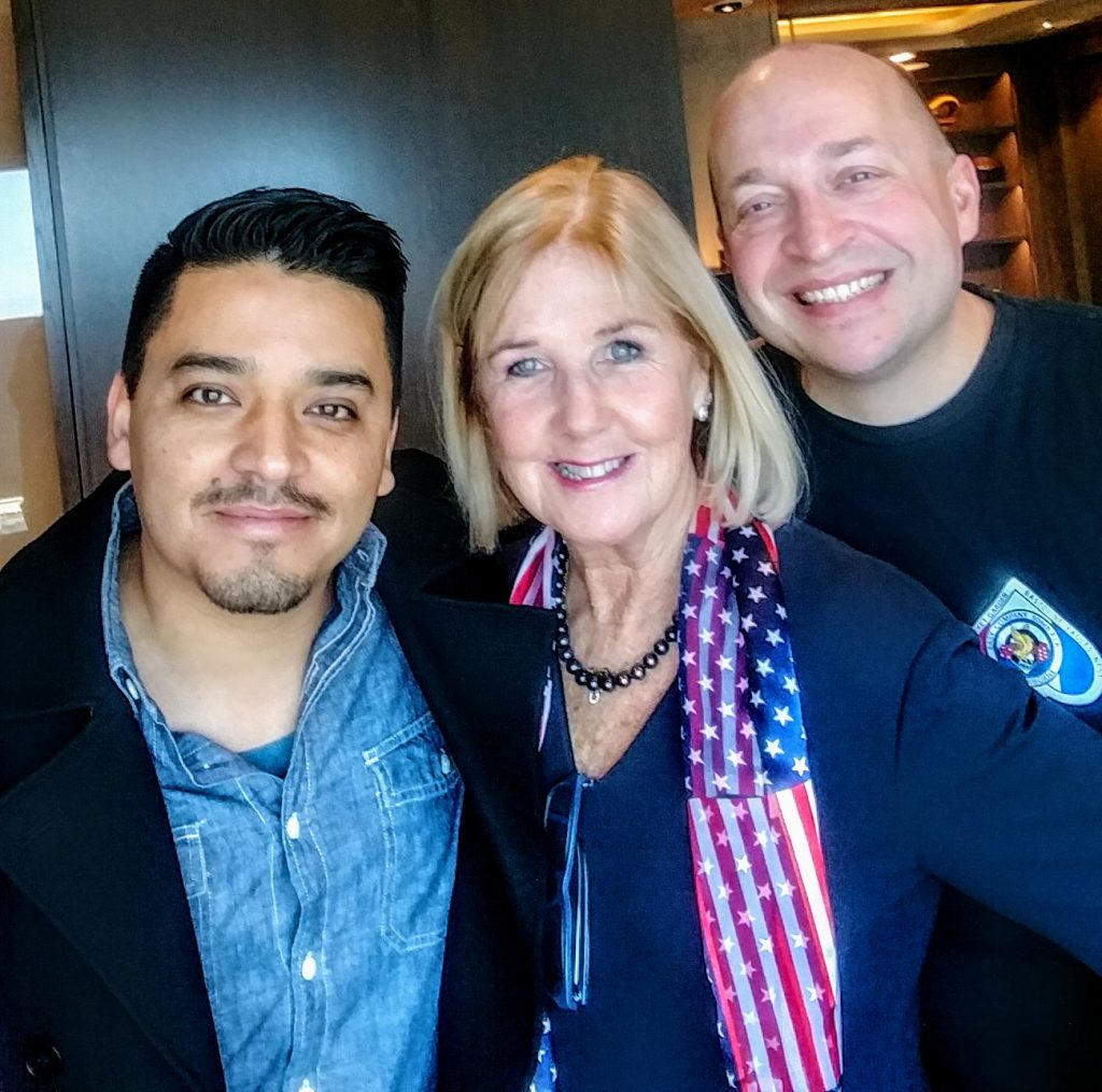 Susan Luz with actor Doug Spain and Chris Langlois
