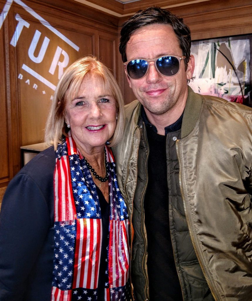 Susan Luz with actor Ross McCall