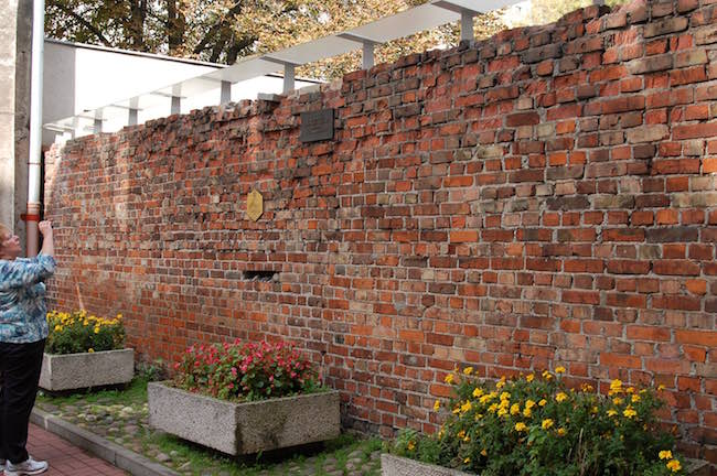 Remnant of the Warsaw ghetto