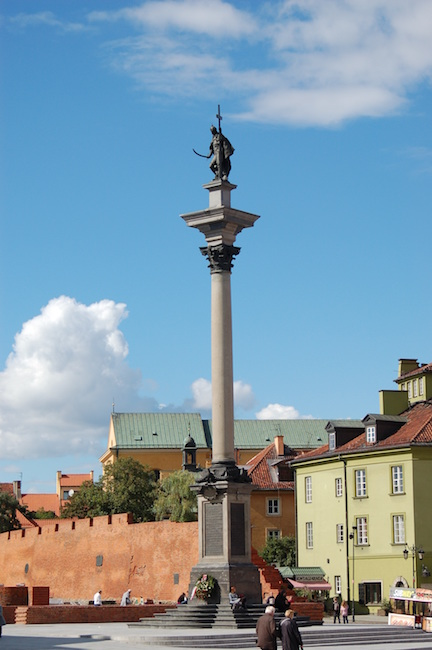 King Zygmunt III monument in Warsaw