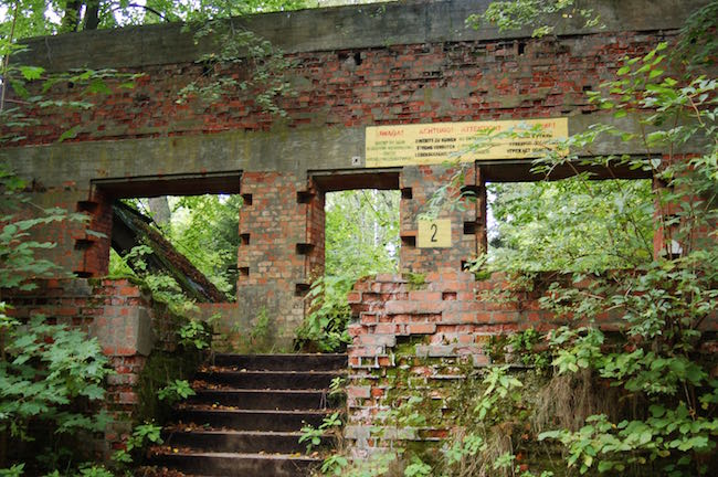 The ruins of Wolf's Lair barracks