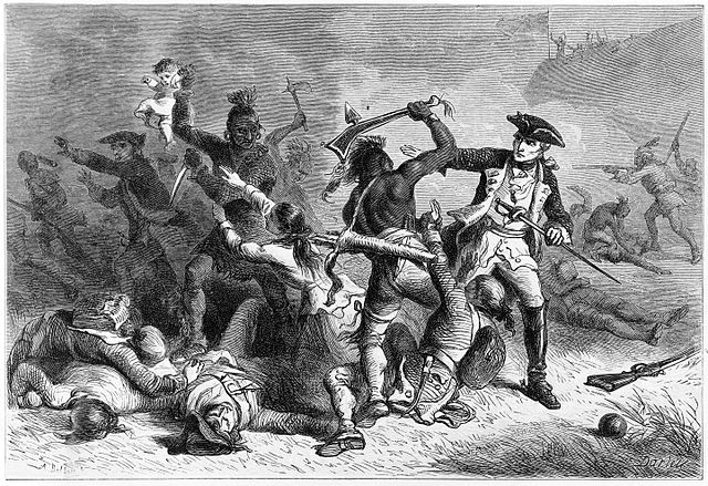 Depiction of Montcalm and British in Battle at Fort William Henry