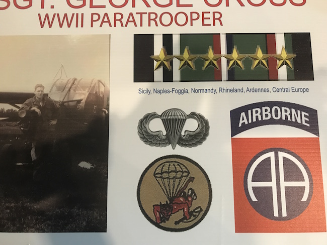 Photo of WWII paratrooper George Cross