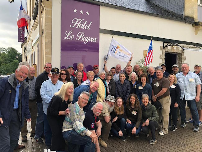 Tour guests 75th anniversary of D-Day