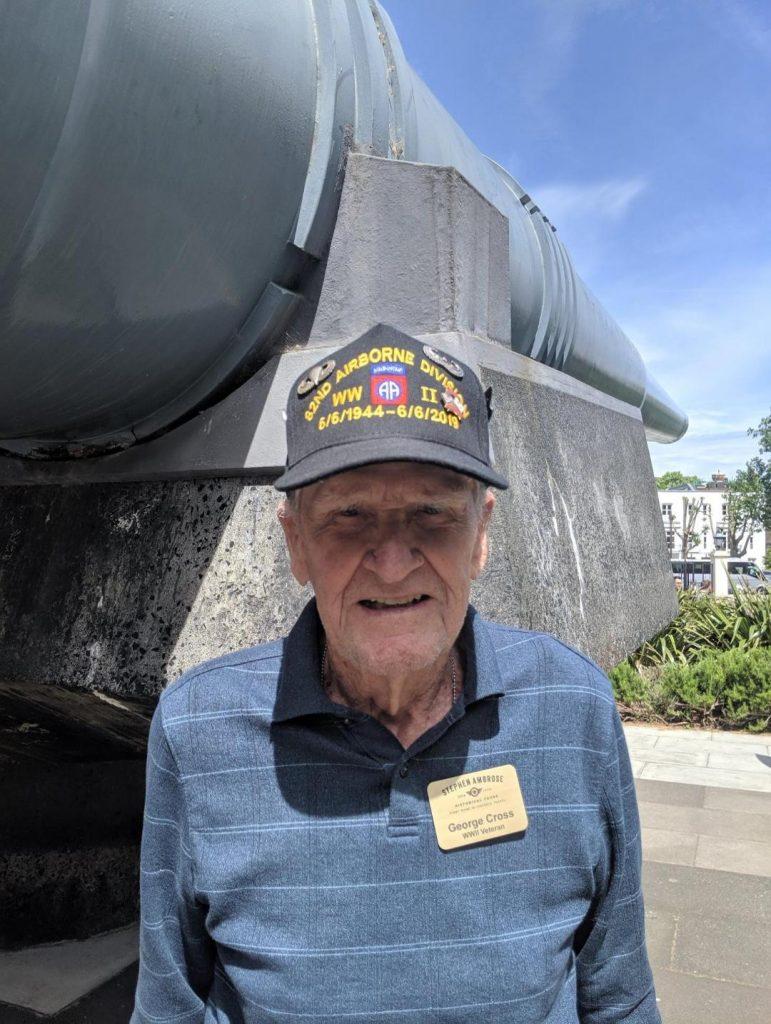 D-Day veteran George Cross