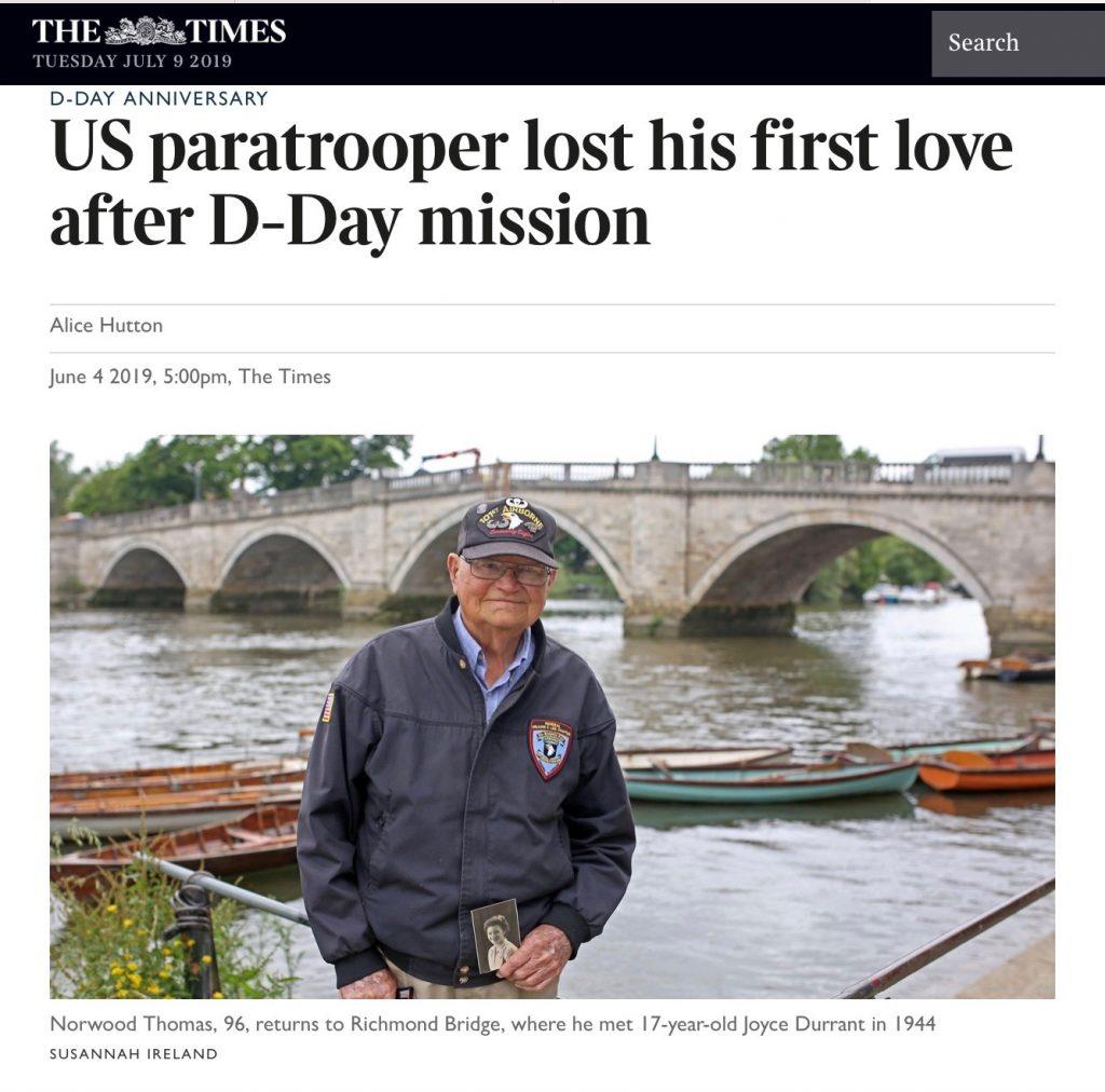 Norwood Thomas article on wartime romance