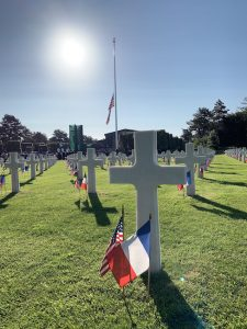 D-day cemetery flags