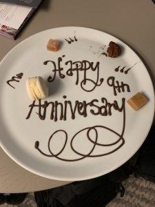9th anniversary dessert