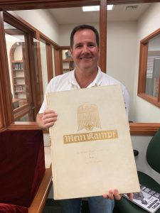 Historian Kevin Hymel with Mein Kampf