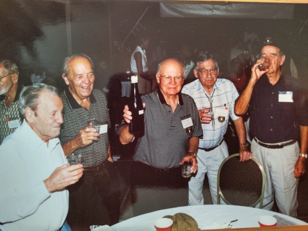Members of Easy Company at a reunion