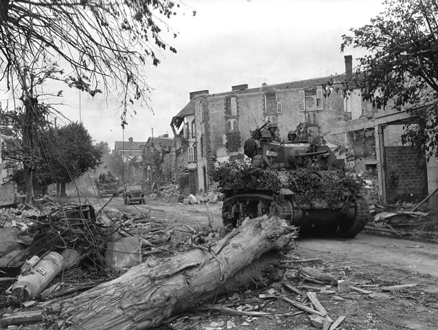 4th Armored Division in Coutances
