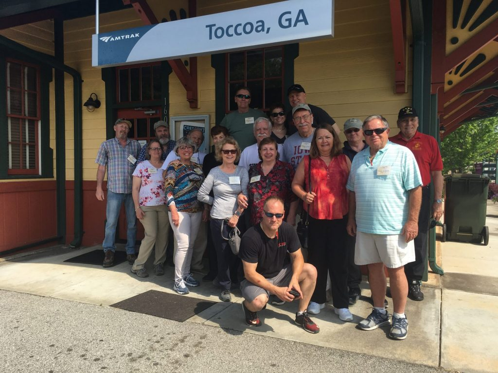 Band of Brothers tour group at Toccoa