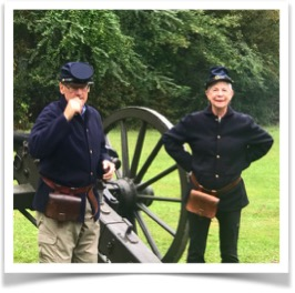 Guest Judy Rigler by Civil War cannon